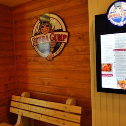 The benches are joined by a digital menu.
