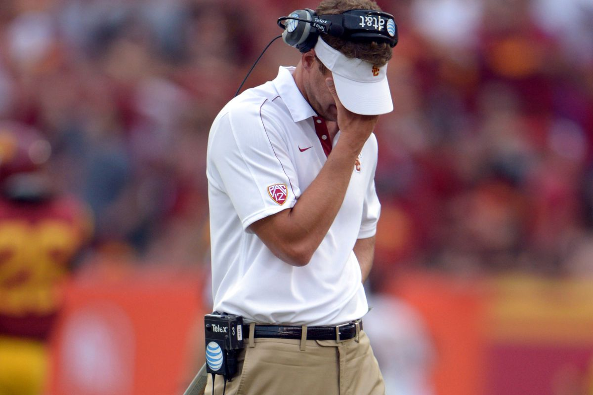 Is Lane Kiffin cracking under the pressure of being USC's coach?
