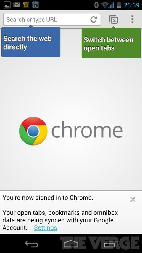 Chrome for Android beta launches with place shifting, faster