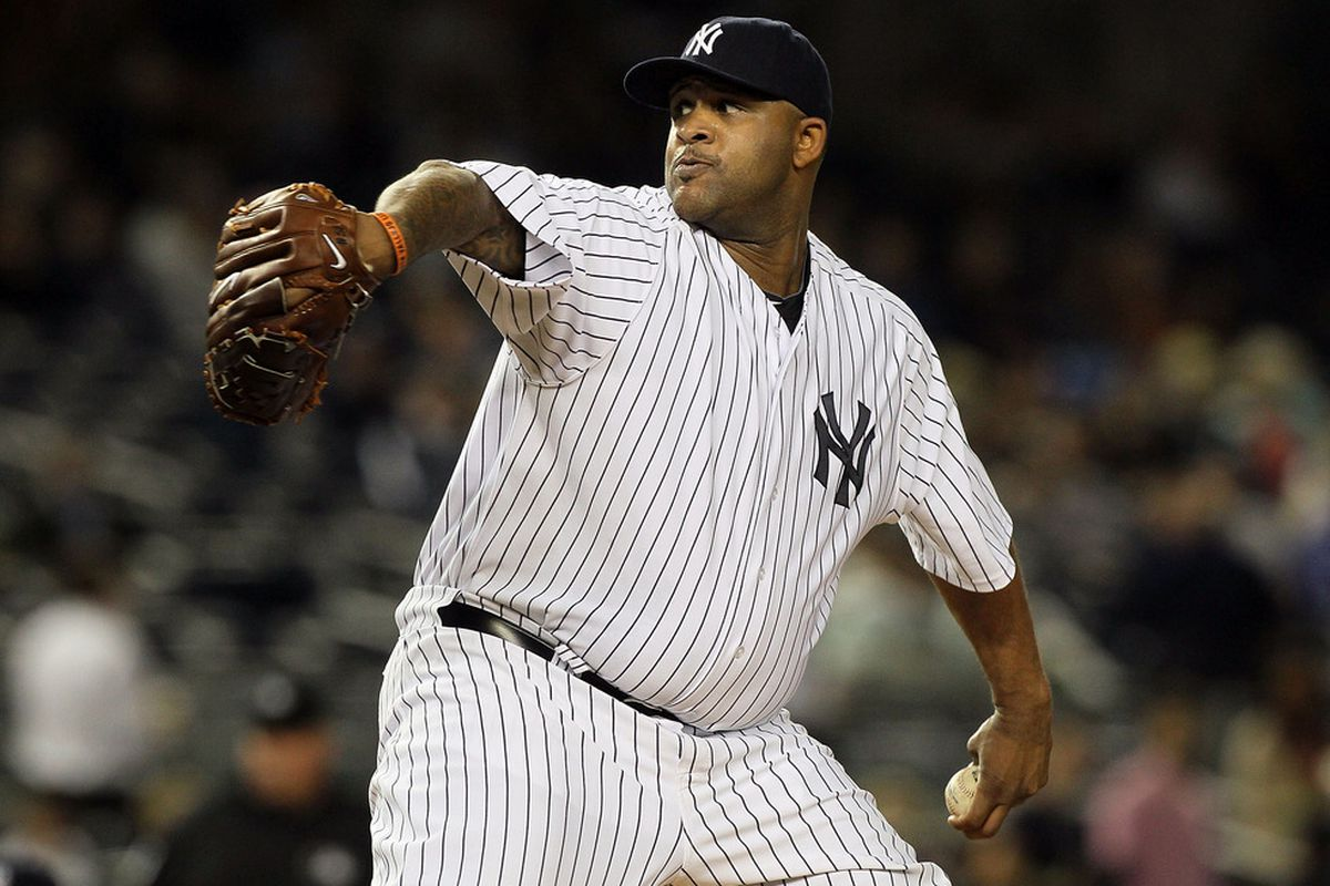 CC Sabathia of the New York Yankees.  (Photo by Jim McIsaac/Getty Images)
