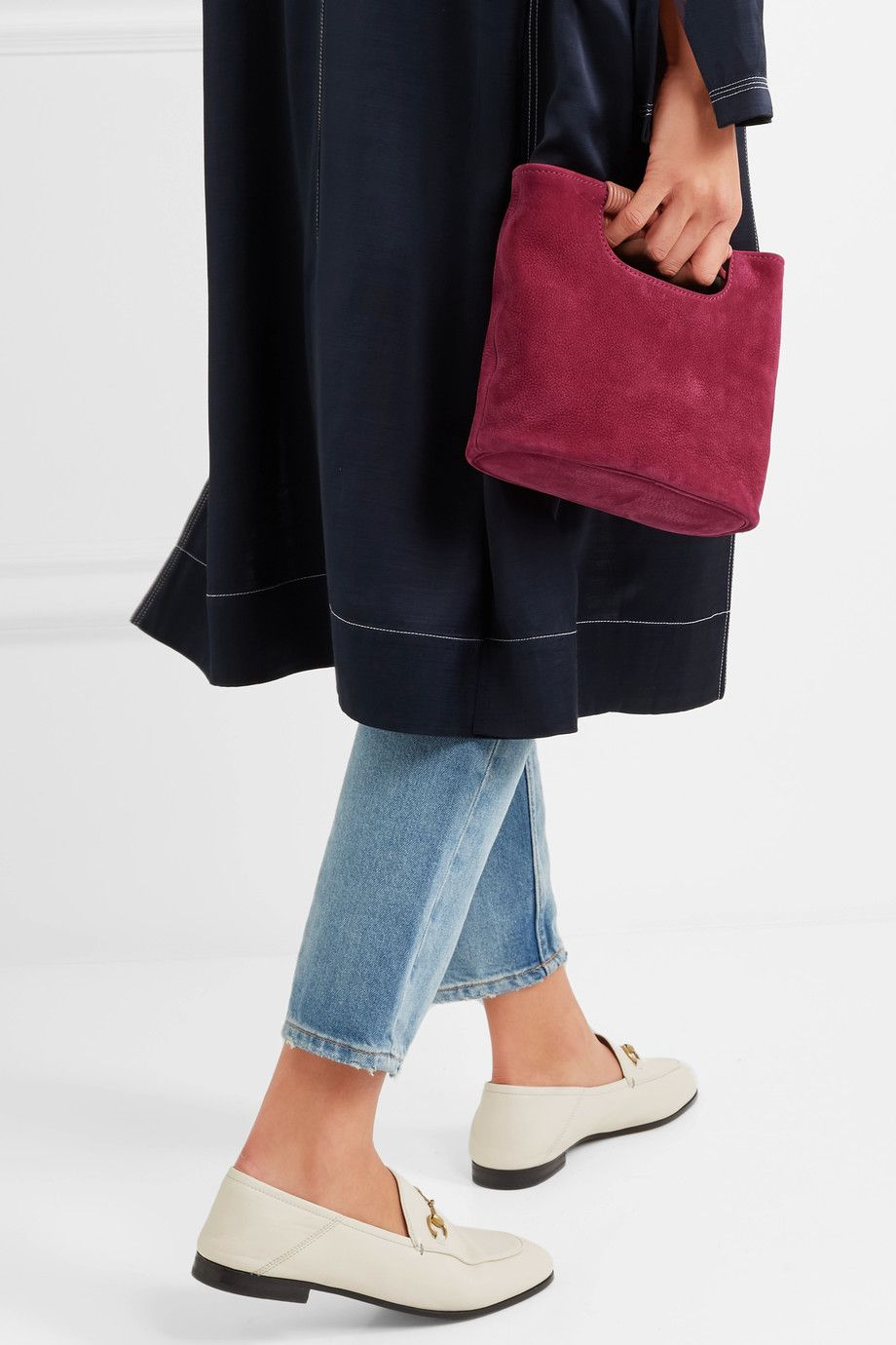 A red small tote bag