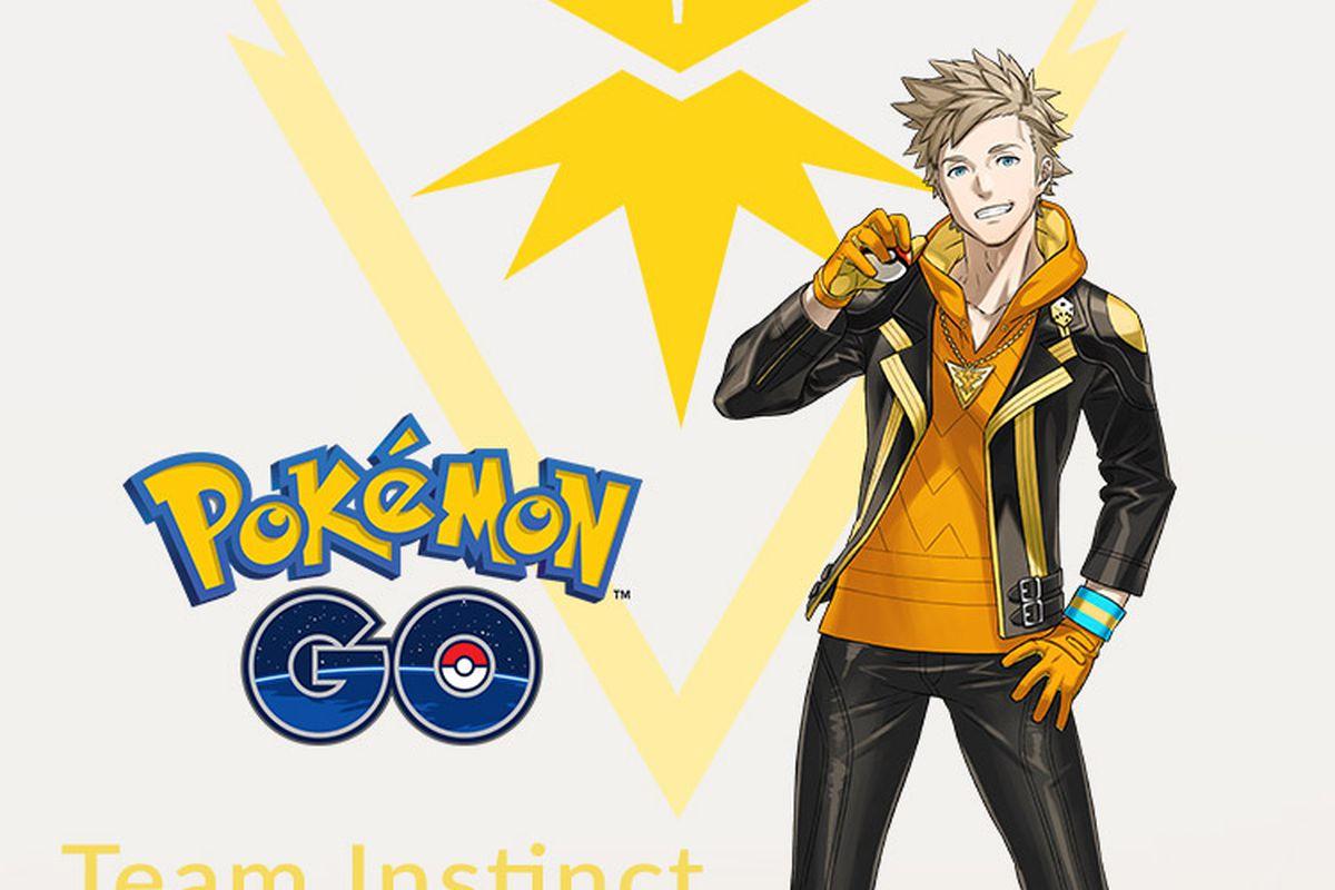 A wallpaper of Spark of Pokémon Go's Team Instinct.