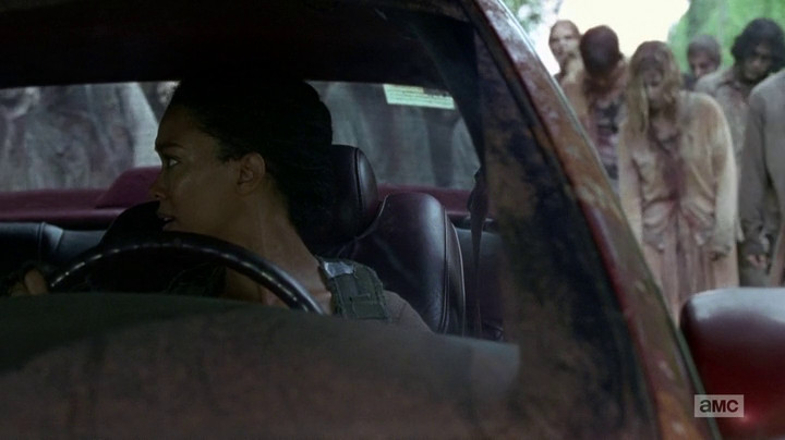 Sonequa Martin-Green plays Sasha on The Walking Dead.