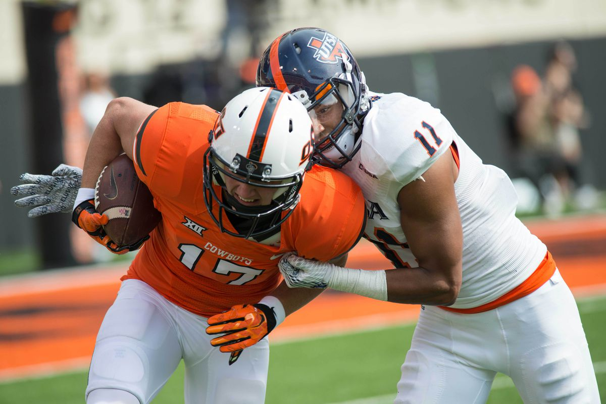 Nate Gaines led the way for the UTSA defense with two interceptions