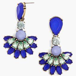 Crystal Fan Drop Earring, $34