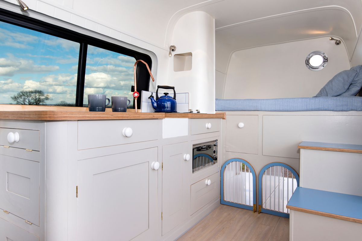 A Converted Van Designed By This Moving House Features Two Dog Kennels And Hidden Guest Bed Photos Tim Hall Photography Courtesy Of