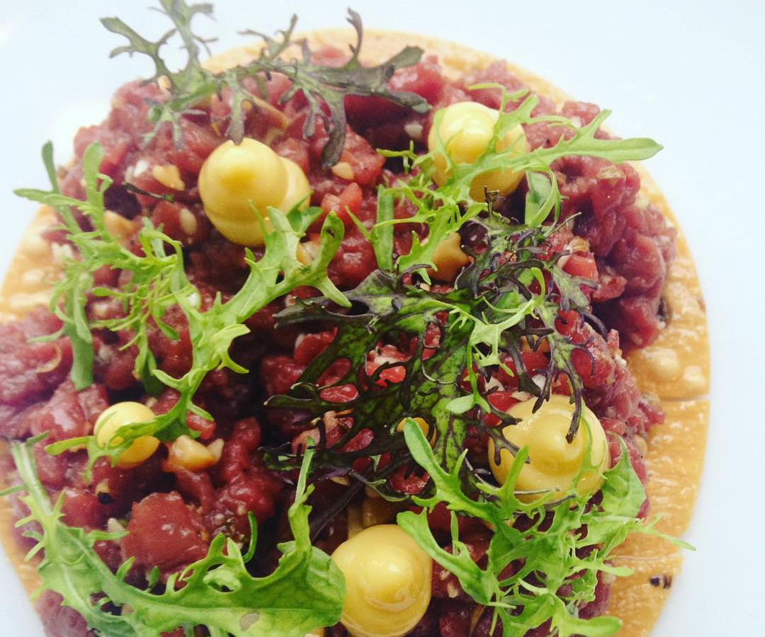 The venison tartare from Foreign & Domestic