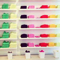 A color block paradise. $29 denim, $8 V-neck tees and $4 flip flops.