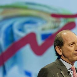 Nestle's CEO Paul Bulcke speaks during the general meeting of one of the world's leading food and beverage company, Nestle Group, in Lausanne, Switzerland, Thursday, April 19, 2012.