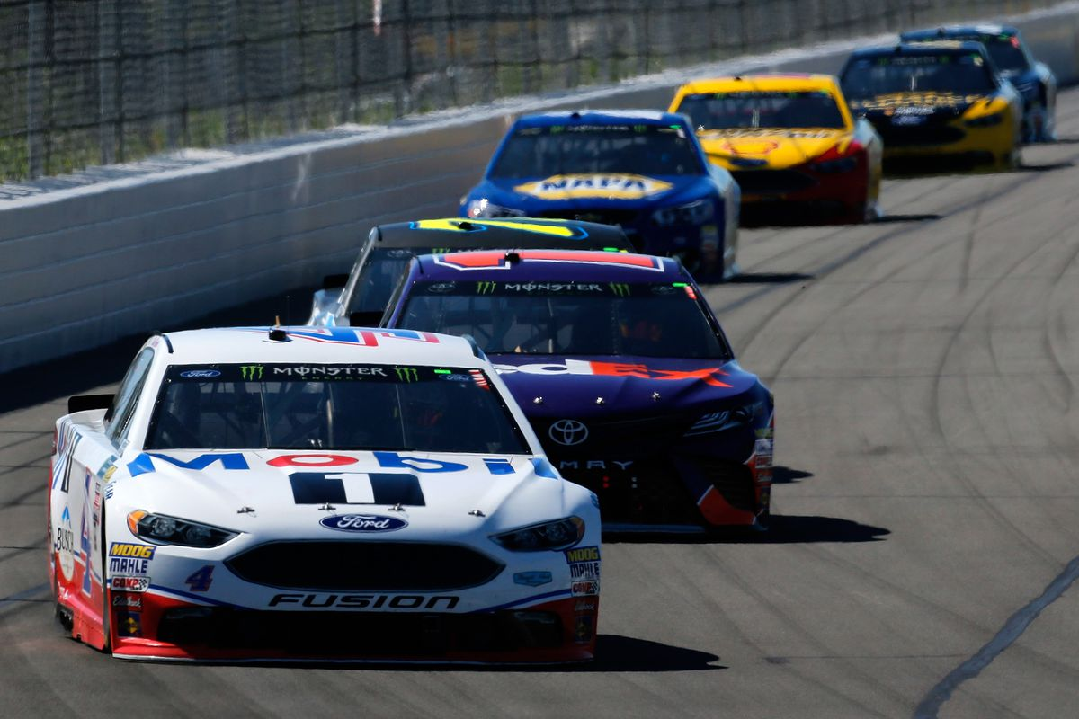 Kevin Harvick Not Bothered By Finishing Runner Up To Kyle Busch At Pocono Despite Late Contact