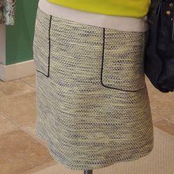Lela Rose Tweed and Linen Pencil Skirt, $795