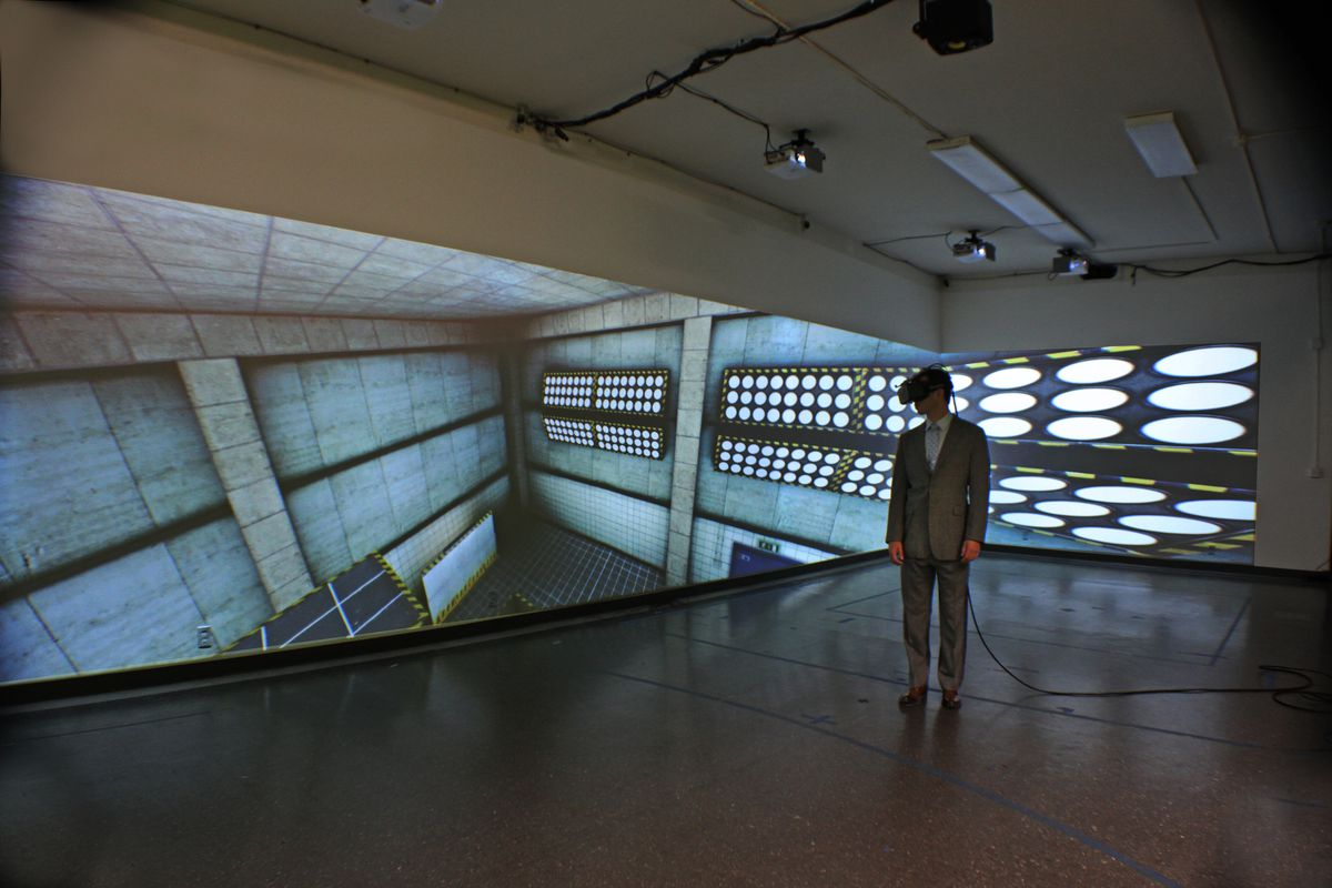 If you have a VR headset and an empty warehouse, it's your