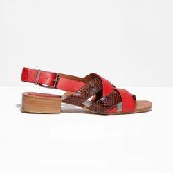 Low heel leather sandals, $60 (were $120)