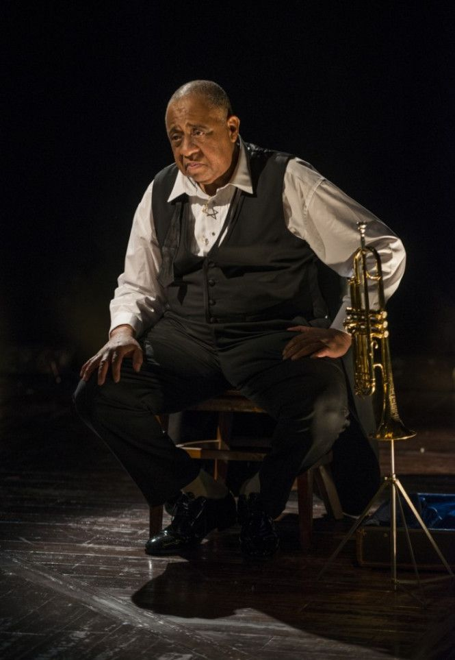 """Barry Shabaka Henley plays Louis Armstrong in the Court Theatre production of """"Satchmo at the Waldorf."""" (Photo: Michael Brosilow)"""
