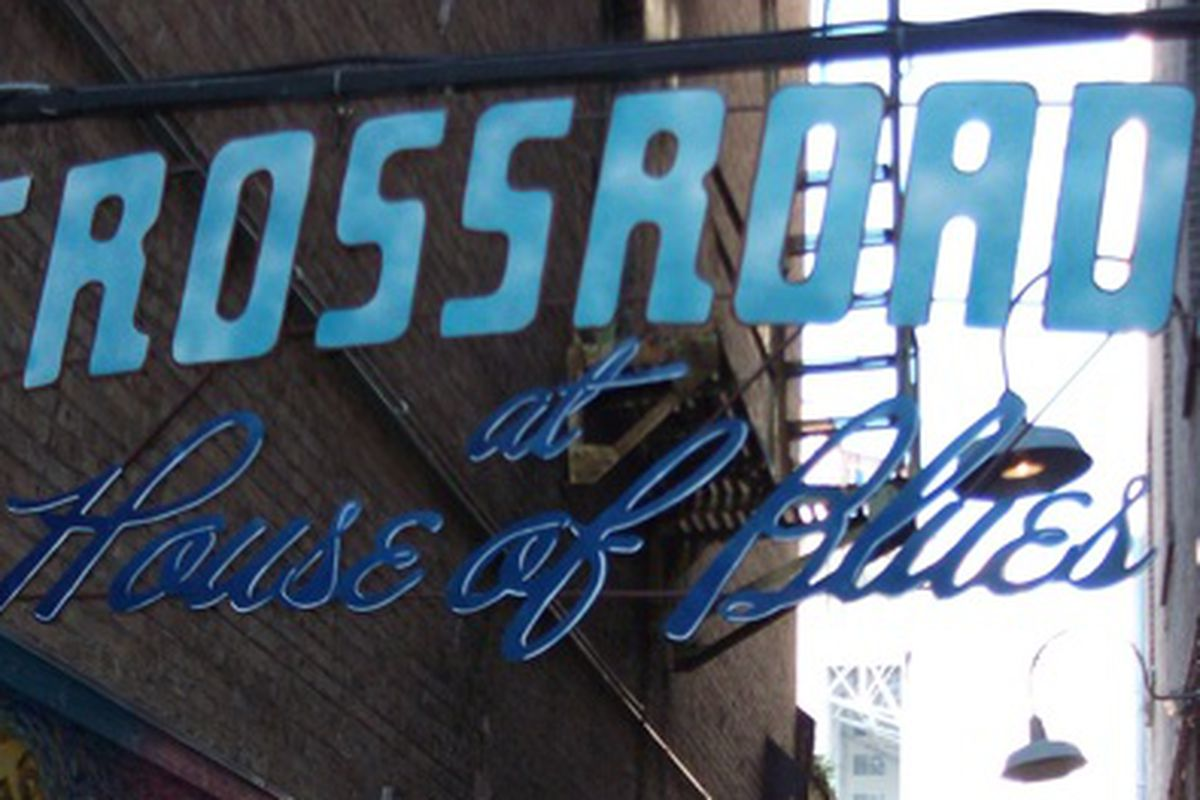 The new sign at the House of Blues New Orleans.