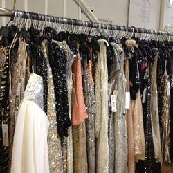 Embellished dresses samples rack, $99