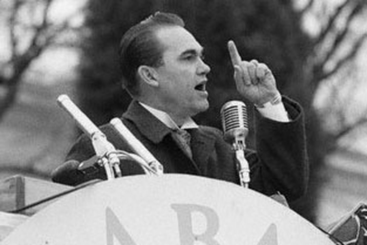 Alabama Governor George Wallace gives his inauguration speech on Jan. 14, 1963.