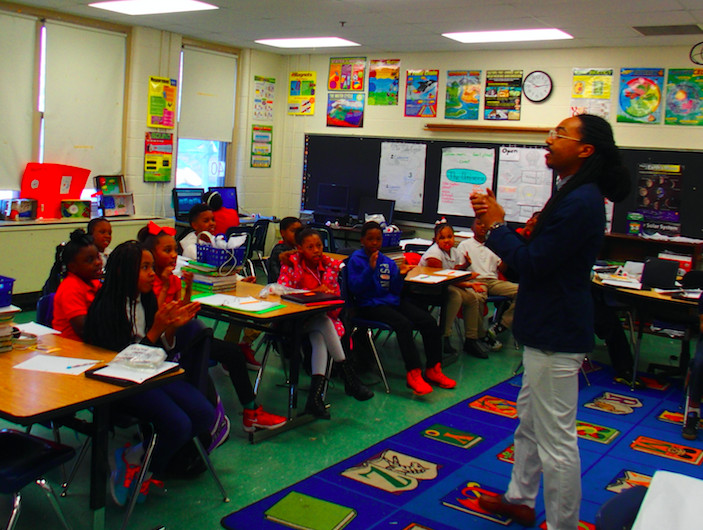 A classroom at Ford Road Elementary in Memphis, which is among those that have exited the state's list of lowest performing schools.