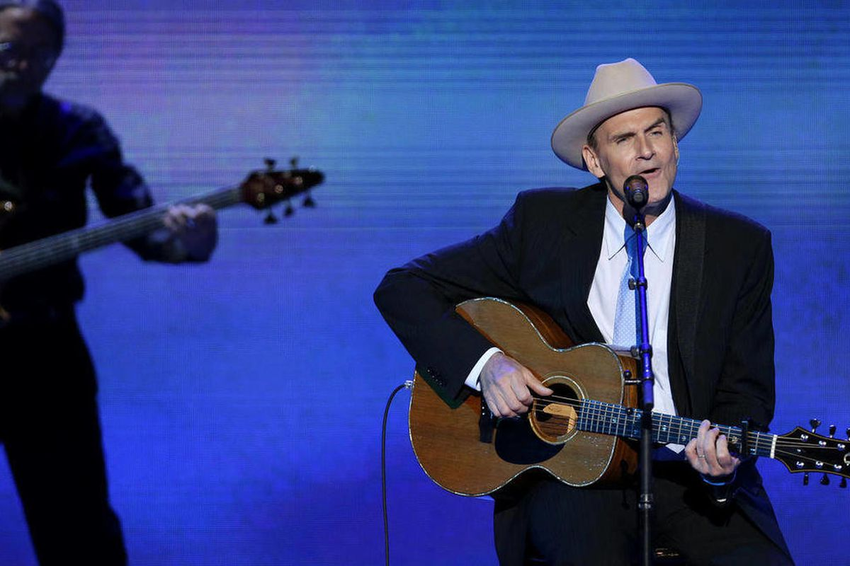 Singer James Taylor performs during the Democratic National Convention in Charlotte, N.C., on Thursday, Sept. 6, 2012.