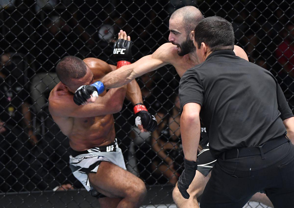 Giga Chikadze vs Edson Barboza's UFC main event.