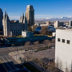 The Church of Jesus Christ of Latter-day Saints' Conference Center in Salt Lake City is devoid of conferencegoers during the 190th Annual General Conference on Saturday, April 4, 2020. Due to the spread of COVID-19, the conference is being broadcast without church members in attendance.