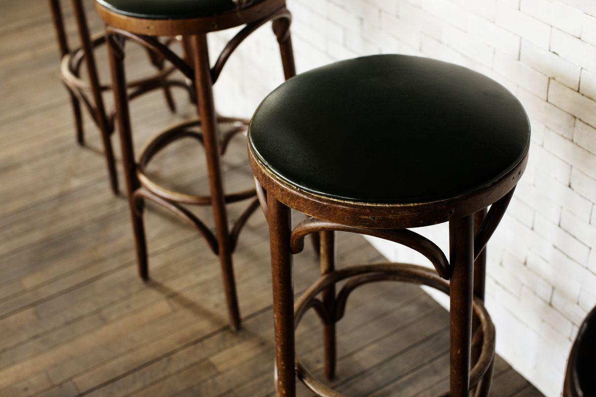 An empty bar stool at Martina