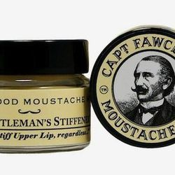 """This all natural moustache wax from England goes on neutral and is available in Lavender, Sandalwood, and Ylang Ylang. <strong>Captain Fawcett's</strong> Moustache Wax, <a href=""""http://www.bigelowchemists.com/brands/captain_fawcett.html/"""">$15</a> at C.O."""