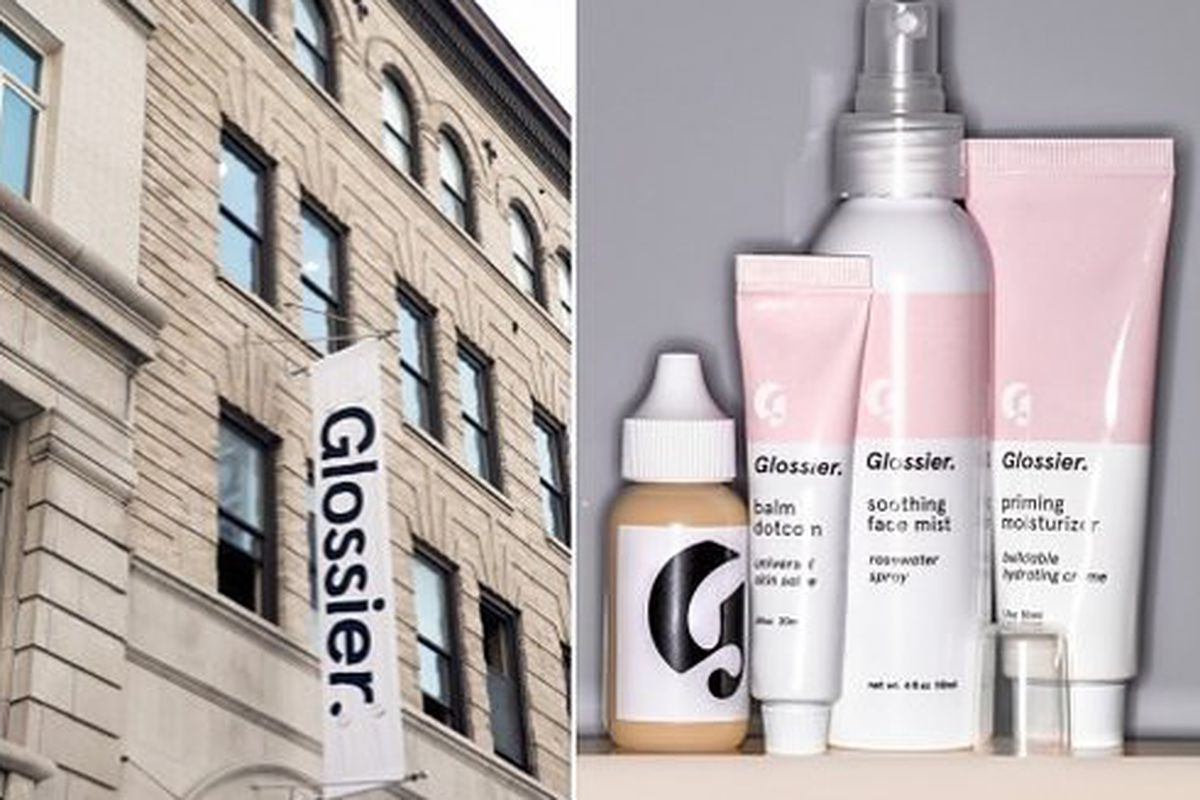 The Glossier NYC pop-up. Image via Glossier