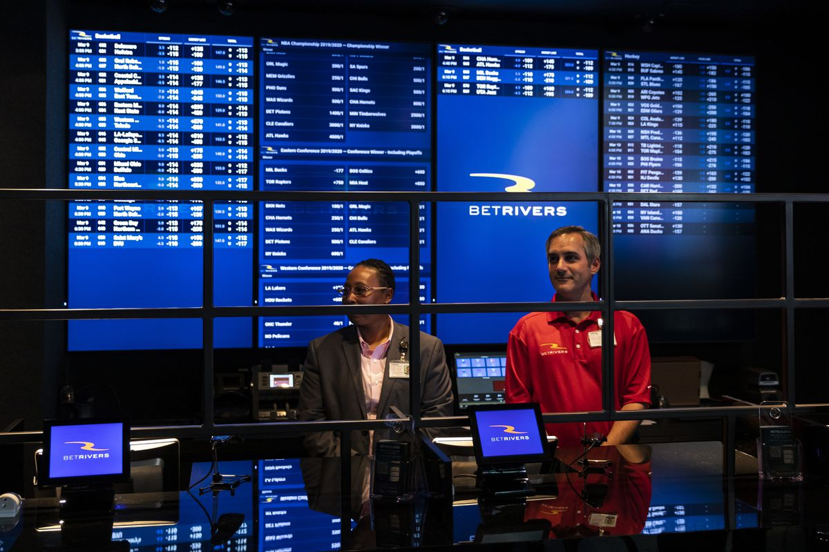 BetRivers Sportsbook, the first brick-and-mortar sportsbook approved by the Illinois Gaming Board, opens to the public at Rivers Casino in Des Plaines in March.