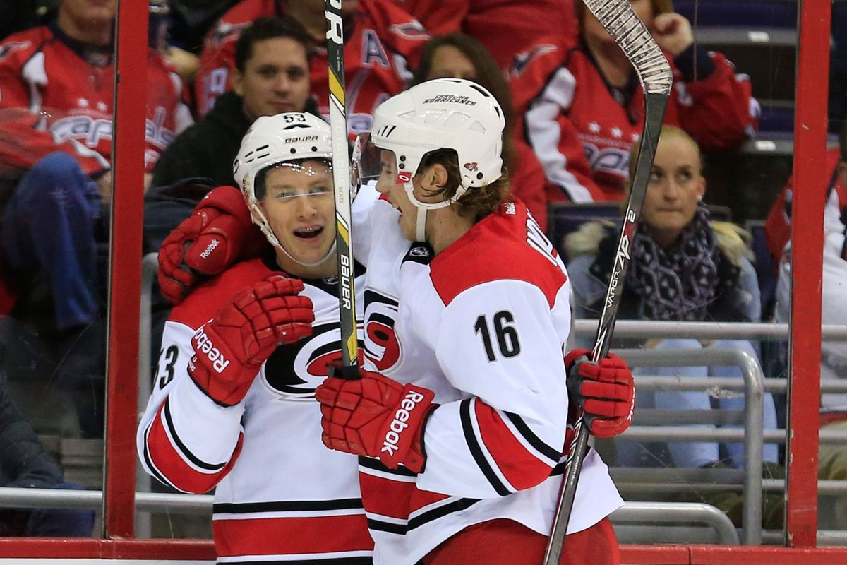 Will Jeff Skinner and Elias Lindholm make a dynamic duo this season?