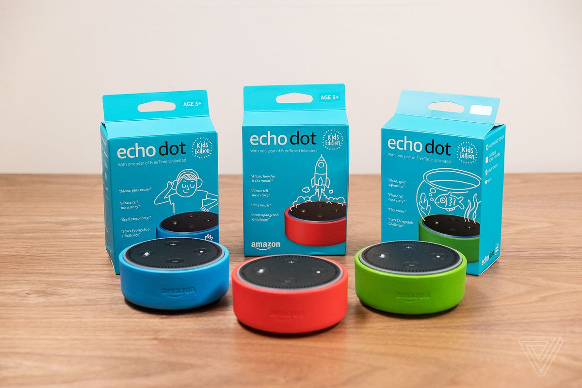 Amazon's Echo Dot Kids Edition has a case and parental