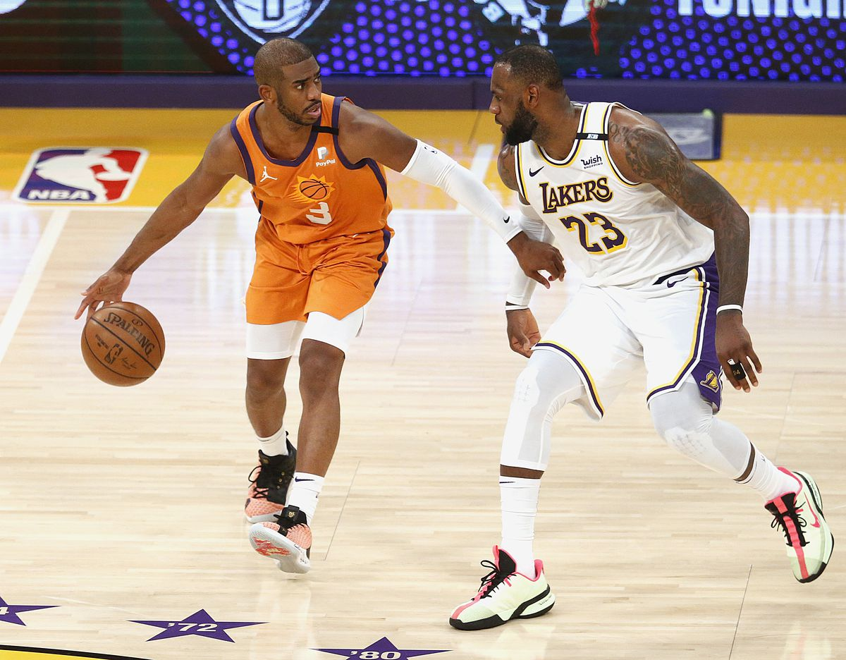 Los Angeles Lakers play the Phoenix Suns in game two of the NBA Western Conference first-round playoff series.