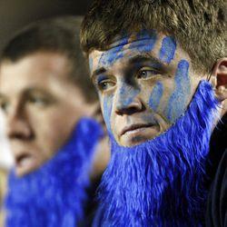 BYU fans watch as their team falls apart against Utah play Saturday, Sept. 17, 2011. Utah won 54-10.