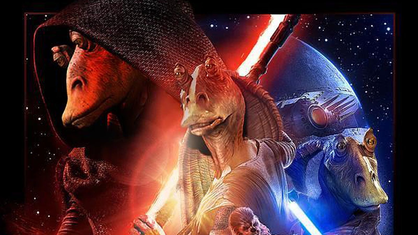 star wars parody poster designer absolutely loves jar jar