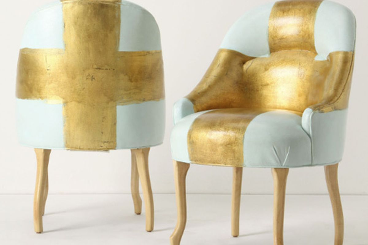 """Kaki Foley's painted chairs via <a href=""""http://editoratlarge.com/articles/anthropologie-celebrates-new-orleans-design-community.html"""">The Editor at Large</a>"""