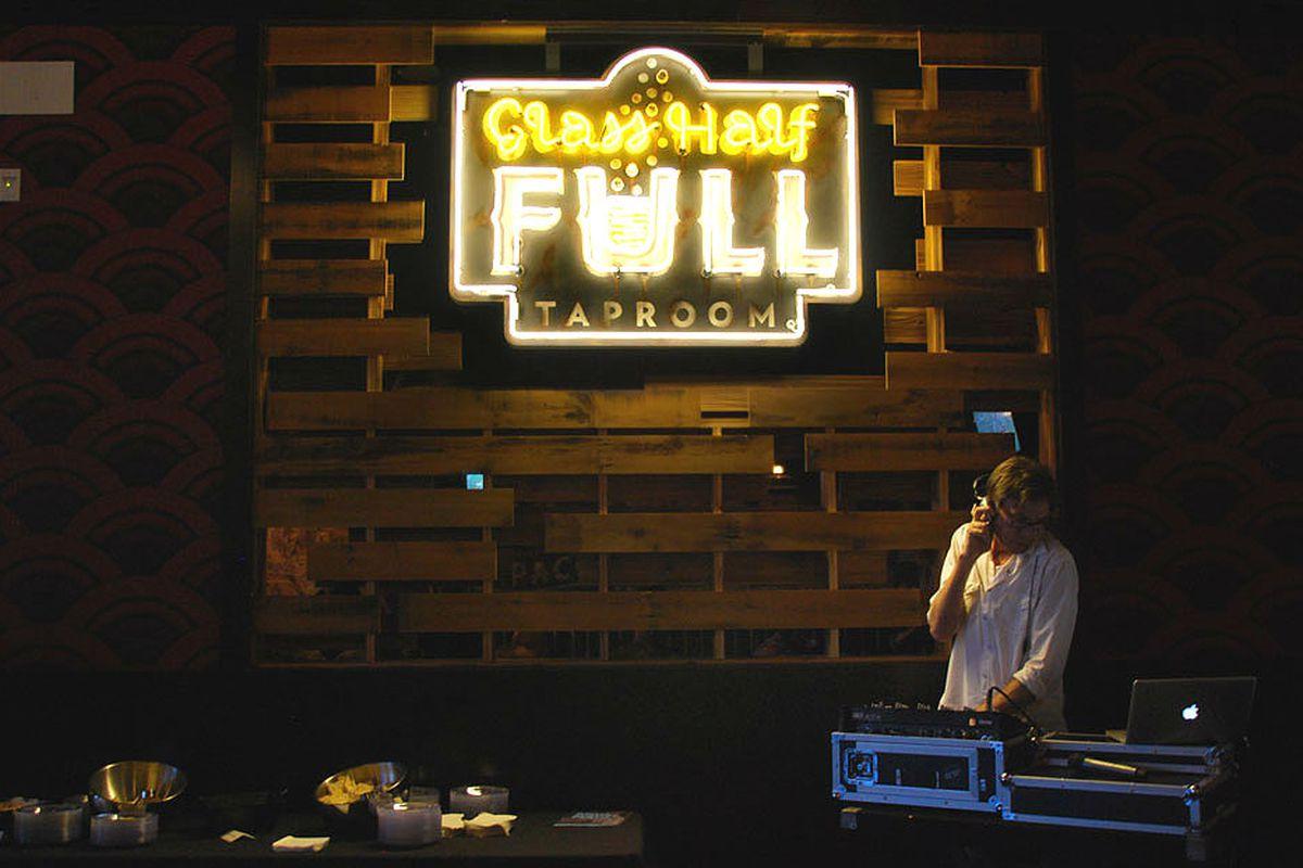 The bar at Alamo Drafthouse.