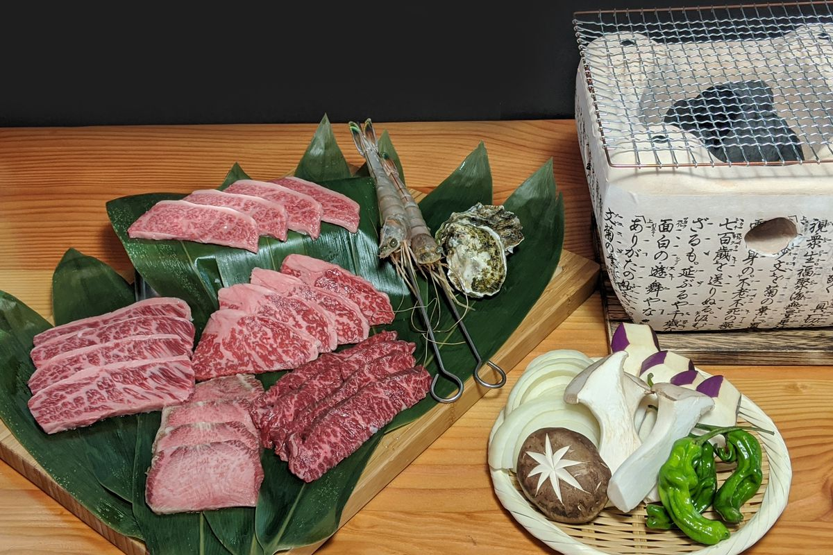 Wagyu beef and seafood for outdoor grilling at Berkeley's Fish & Bird