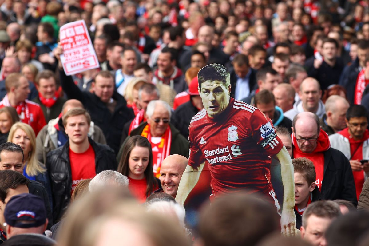 Cardboard cut out of the captain, as you do on the way to Wembley.
