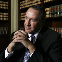 Former Attorney General Mark Shurtleff is interviewed in his office at the Capitol in Salt Lake City, Tuesday, Dec. 18, 2012.