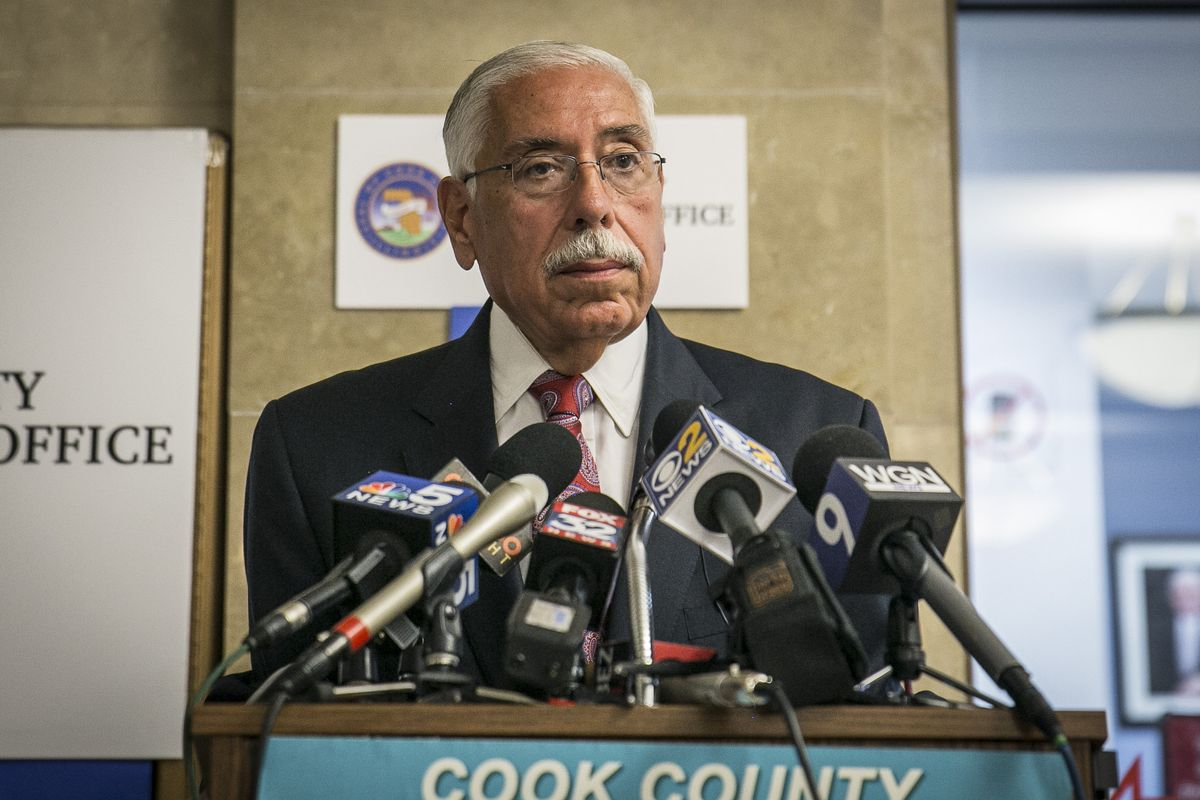 Cook County Assessor Fritz Kaegi's office says Kaegi's office says it's continuing policies established by his predecessor, Joseph Berrios (above) in deciding who gets the disabled veterans property tax exemption.