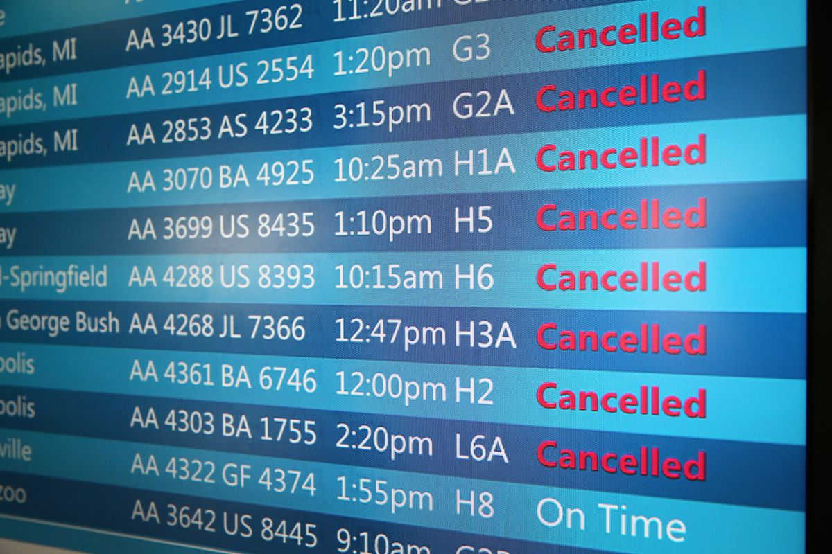 Cancellations airport