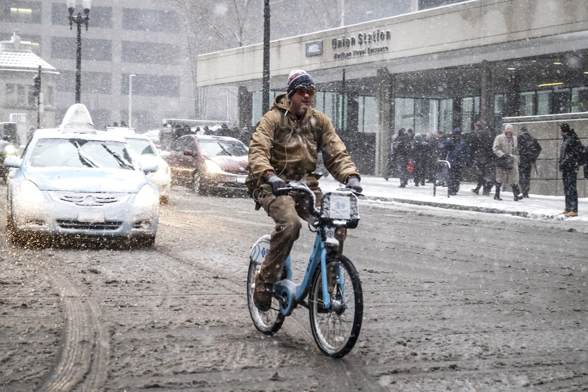 The snow could fall as quick as an inch per hour on Tuesday, Feb. 25, 2020, the weather service reported.