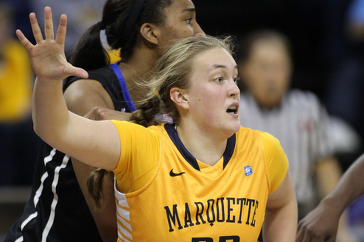 Lauren Tibbs was the driving force behind Marquette's late game comeback.