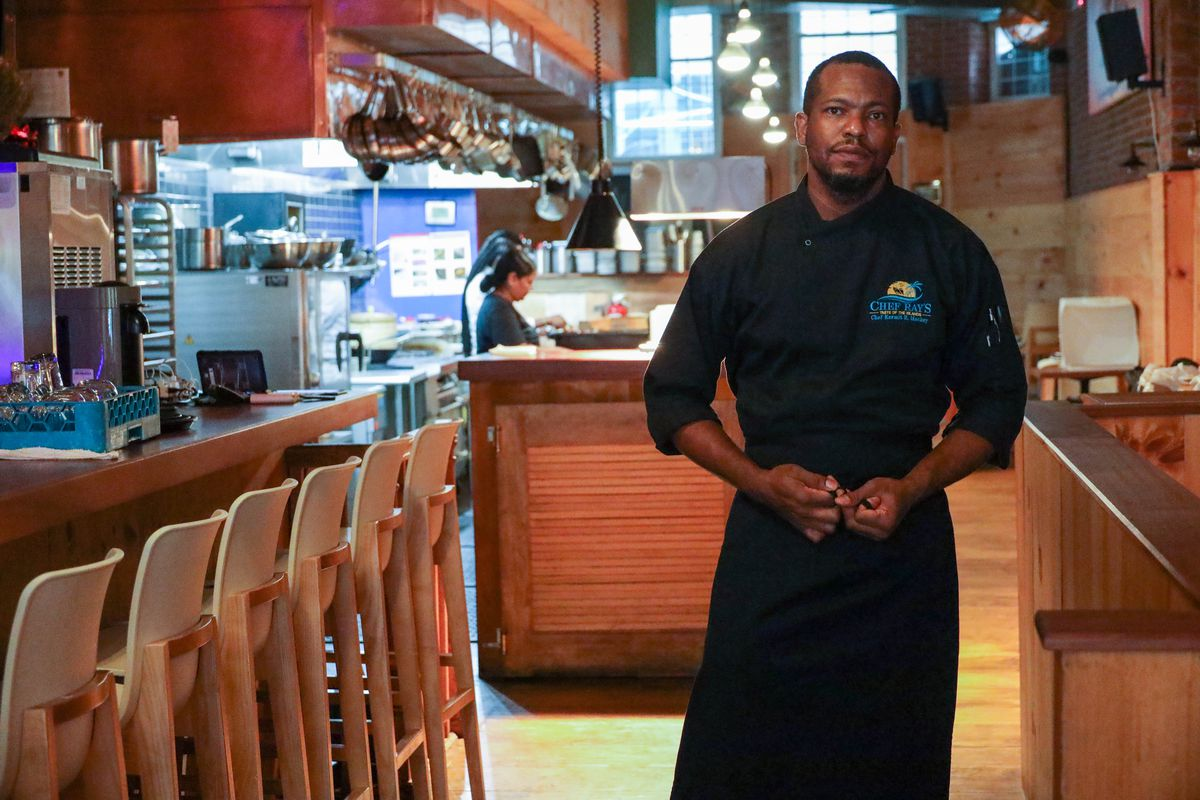 Kermit Mackey opened The Bun Hut on the Lower East Side early in the summer, Sept. 9, 2020.