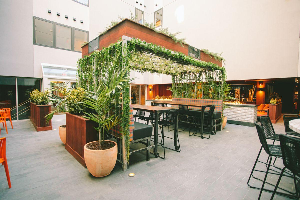 The Publico Street Bistro & Garden courtyard