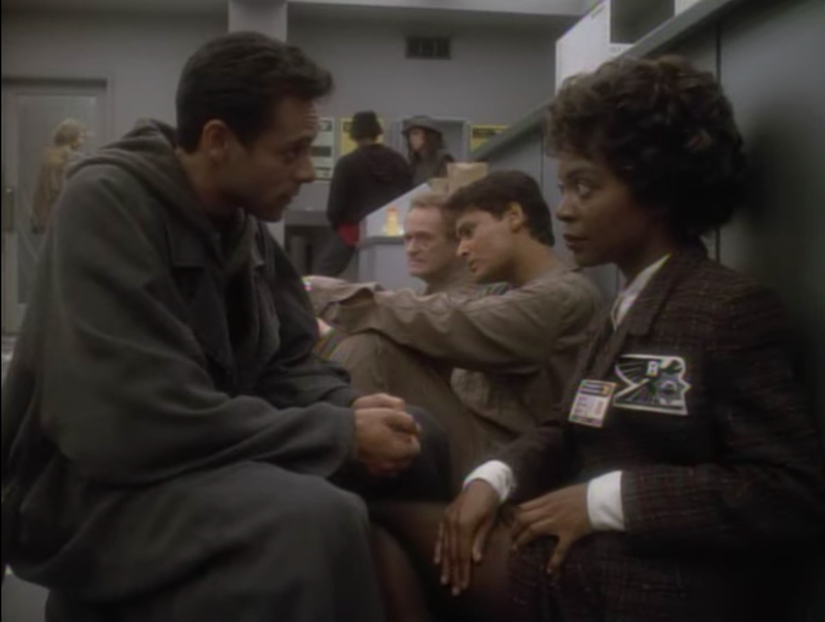 Bashir solves some medical problems in the past.