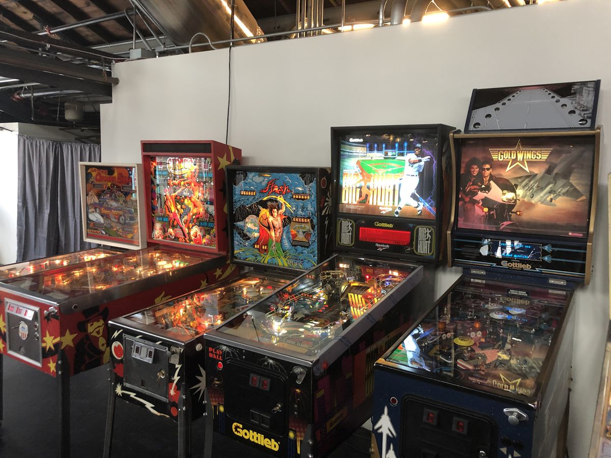 Some of the upstairs arcade games at Grabowski's