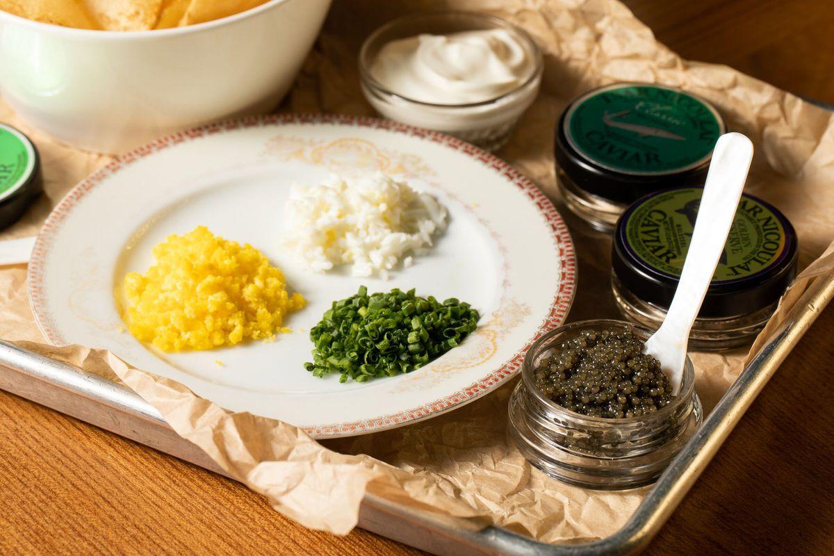 Caviar and fixins