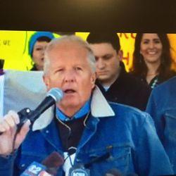 Rep. Mike Noel, R-Kanab, speaks at a Bears Ears rally against a monument designation.