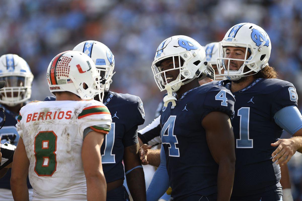 NCAA Football: Miami at North Carolina